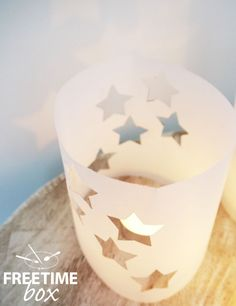 Tuto DIY : réaliser un photophore avec du calque pour une lumière tamisée