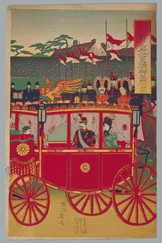 Hashimoto Chikanobu Jun. 1889 Japanese History, Asian History, Era Meiji, Meiji Restoration, Imperial Japanese Navy, Retro Pop, World Images, Japanese Prints, Japan Art