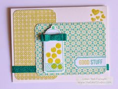 Candy Jar Card using new CTMH Hostess stamp set -Sweet as Sugar -