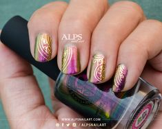 I Love Nail Polish Ultra Chrome - Masquerade Review and Swatch by @alpsnailart