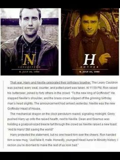 Harry Potter and Neville Longbottum