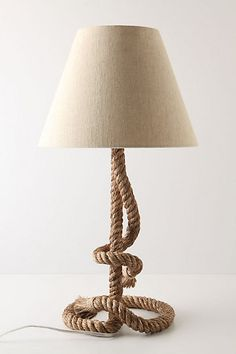 lamp but i 39 m pretty sure i can hot glue some rope onto a cheap lamp. Black Bedroom Furniture Sets. Home Design Ideas