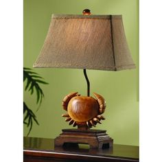 Perfect touch for your coastal cottage home! #crablamp #beachylamp