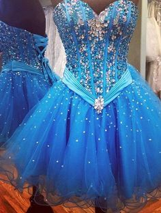 Sweetheart Beading Charming A-Line Short Prom Dresses,Tulle Homecoming Dress Homecoming Dresses On Sale, HD06