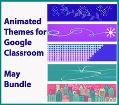 Animated Google Classroom Headers (May) - Distance Learning by NoFiredrills Classroom Banner, Classroom Themes, Teaching Religion, Online Classroom, Middle School Classroom, Google Classroom, Best Teacher, Educational Technology, May
