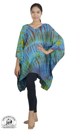 Summer Cover Up, Plus Dresses, Elegant Woman, Kaftan, Fashion Brands, Summer Outfits, Tie Dye, Tunic Tops, Plus Size