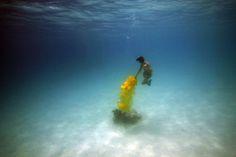 Surreal Underwater Spray Paint Portraits - My Modern Metropolis
