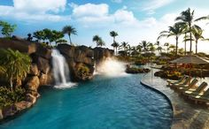 Pool of Kings' Land Hotel in Hilton Grand Vacations Club in Waikoloa, Hawaii