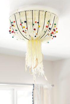 DIY Eames inspired -bohemian pendant lamp