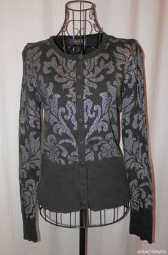 WHITE HOUSE BLACK MARKET TOP S Small Cardigan Snap Front Long Sleeve Jacket #WhiteHouseBlackMarket #KnitTop #Casual