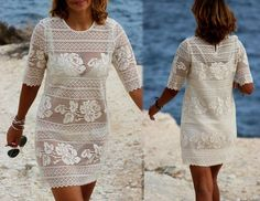 crochet folet dress with diagram