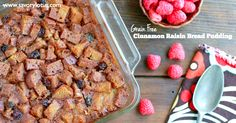 Cinnamon Raisin Bread Pudding (gluten free, grain free, paleo)