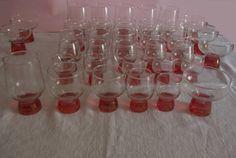 Cristalería Vintage 6 Servicios Años 60 / 60'S VINTAGE GLASSWARE To 6 Dinner Guests de lahaciendavintage en Etsy