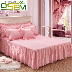 Cotton Korean version of the lace bed skirt a single cotton thickening cotton sleeves summer mattress bedspread 1.5m1.8 m bed