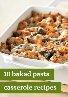10 Baked Pasta Casserole Recipes – Stock up on baked pasta casserole recipes, and you'll be prepared for just about any dinnertime need. Potluck tomorrow? Bring it on.