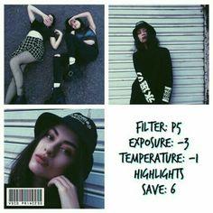 P5 Exposure -3 Temperature -1 Highlights Save +6