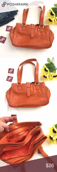 "HOST PICK Burnt Orange Handbag Great condition! Burnt orange handbag by Kuda.  I believe it's imitation leather.  3 zippered compartments.  Interior zippered pocket.  Handle drop 10"" width 12.5"" height 8"" depth 4"".  Great color for the upcoming fall season.  Best in Bags Host Pick 8/28 Kuda Bags"