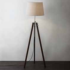 Buy John Lewis & Partners Ethan Wood Floor Lamp from our Floor Lamps range at John Lewis & Partners. Living Room Interior, Home Living Room, Wood Floor Lamp, Floor Lamps, Side Table Lamps, Side Tables, Living Room Accessories, I Love Lamp, Loft Room