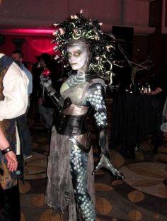 An amazing Medusa costume