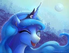 Princess Luna laughing