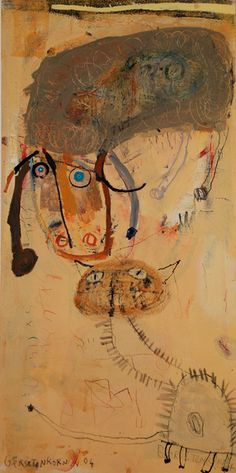 Between a Sheep and a Cat by Vered Gersztenkorn on Meeting Between a Sheep and a Cat. by Vered GersztenkornMeeting Between a Sheep and a Cat. by Vered Gersztenkorn Art And Illustration, Outsider Art, Cool Paintings, Animal Paintings, Modern Art, Contemporary Art, Art Brut, Naive Art, Cute Drawings