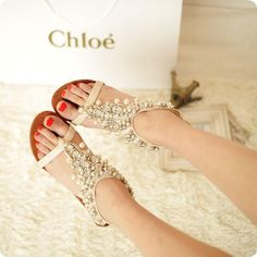 Handmade-beautiful-beaded-wedges-sandals-lambdoid-flip-flop-gladiator