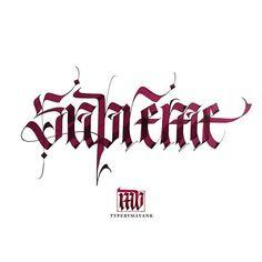 """Supreme"" - Callivember, day 10 #callivember #callivember2017 #calligraphymasters #calligraphy #lettering #typographyinspired #TYxCA #typism#typespire #goodtype #typematters #thedailytype #typegang #typetopia #letteringco #ligaturecollective #50words #slowroastedco #showusyourtype  #vector #design #typostrate #typography #handmadefont #fraktur #blackletter #gothic #pilotparallelpen"