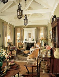 This room is just gorgeous. British Colonial with a feminine twist.