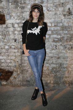 Alexa Chung at London Fashion Week / Photographer: Anthea Simms