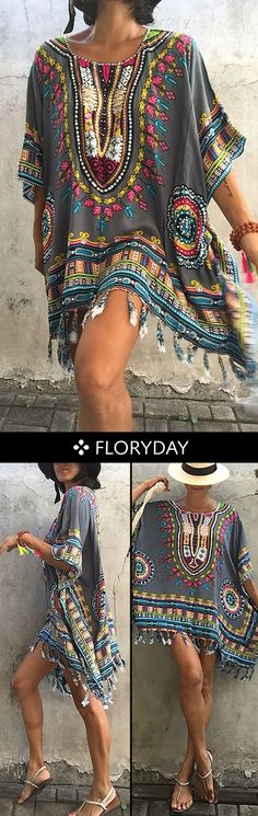 Wild yet beautiful. This dress is gonna catch everyone's eyes! Wild yet beautiful. This dress is gonna catch everyone's eyes! Hippie Style, Estilo Hippie Chic, Mode Hippie, Hippie Look, Look Boho, Look Chic, Bohemian Style, Bohemian Gypsy, Gypsy Style