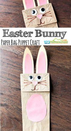 Paper Bag Bunny - Easter Puppet Craft for Kids
