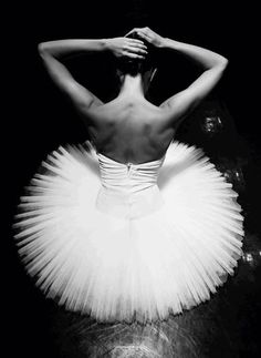 ballet - beautiful classic black and white photo