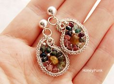 earrings post silver sterling with tourmaline | JewelryLessons.com