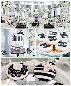 Chanel Inspired Birthday Party via Kara's Party Ideas | KarasPartyIdeas.com (2)