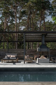 Pergola Patio, Backyard, Garden Pavillion, Cotswold House, Build My Own House, Outside Fireplace, Modern Outdoor Living, Garden Pool, Back Patio