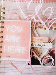 Create and Be You with Crate Paper All Heart by Jamie Pate Finding I Am, Dont Compare, Artist Journal, Crate Paper, Mini Albums, Crates, Told You So, Place Card Holders, Heidi Swapp