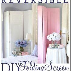 Folding Screen DIY {Room Dividers}