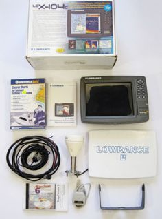Lowrance-LCX-104C-Fish-Finder-Chart-Plotter-GPS-Sonar-With-Receiver-amp-Maps