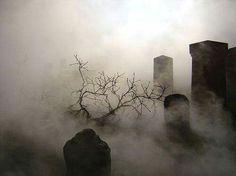 Gloomy cemetery