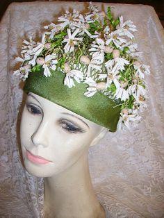 Cutest Vintage 1950's Floral Ladies Hat Flower Garden Hat