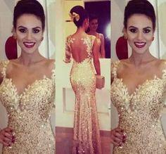vestido longo dourado formatura casamento madrinha importado