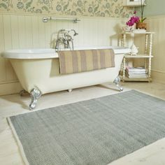 Weaver Green rugs are made from recycled plastic bottles - but with the look and feel of wool! Yes, really! Visit our site for more info. Herringbone Dove l shown.