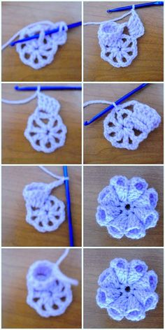 23 Easy Crochet Flower Free Patterns For Beginners - But one thing is also clear in the picture that you will also require grey wool to create the mid p - Crochet Flower Patterns, Crochet Patterns For Beginners, Crochet Patterns Amigurumi, Crochet Motif, Crochet Designs, Crochet Flowers, Crochet Stitches, Easy Patterns, Crochet Crafts