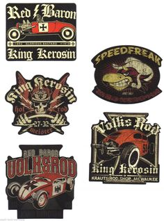 33 King Kerosin Set Red Baron Aufkleber/Sticker/Rockabilly/Hot Rod/Oldschool/V8 | eBay