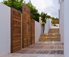 Stylish Garden Fencing And Decking Made Out Of Recycled Plastics With Modern Outdoor Shower Inspirations