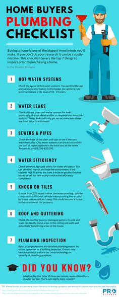 The Complete Plumbing Checklist For New Homebuyers