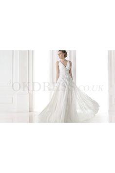 Gorgeous Court Train Chiffon Yarn Court Train Wedding Dresses - by OKDress UK