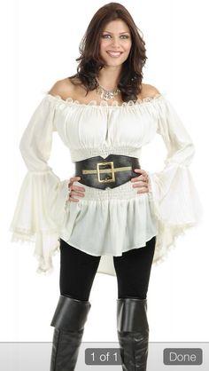 Pirate peasant boho blouse