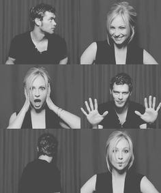Candice Accola and Joseph Morgan