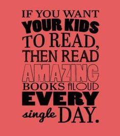 Reading aloud is so...